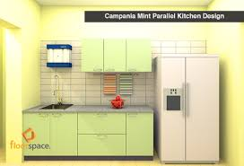 floorspace campania mint parallel modular kitchen