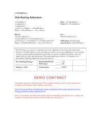 Sample Vendor Contract Template 9 Hosting Change Addendum