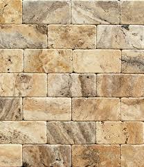 philadelphia 3 x 6 travertine tumbled brick tile box of 5 sq ft