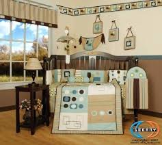 baby boy bedding blue and brown baby boy bedding sets for cribs