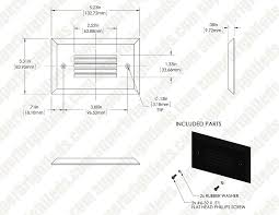 louvered step light cover face plate for rectangular led step light open window or louvered