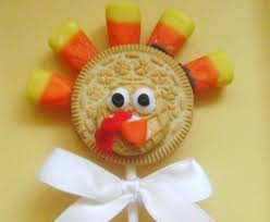 healthy thanksgiving treats turkey cookie pops