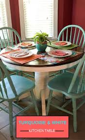 Furniture Kitchen Table Top 25 Best Turquoise Kitchen Tables Ideas On Pinterest