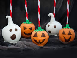 halloween treat candy coated ghosts and jack o u0027 apples hgtv