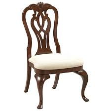 kincaid furniture hadleigh traditional queen anne side chair with
