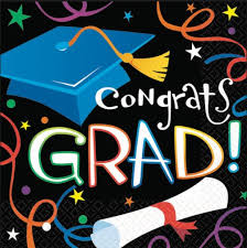 congrats grad lunch napkins paradise