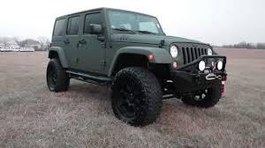 green jeep wrangler 2015 custom jeep wrangler rubicon green kevlar lifted youtube