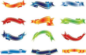 name ribbon set of colorful ribbons vector free vector graphics all free