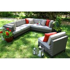 ae outdoor camilla 4 piece sectional with cushions u0026 reviews wayfair