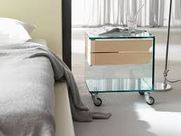 Furry Blanket Bedroom Modern Bedroom White Bedroom Glass Nightstand On Wheels