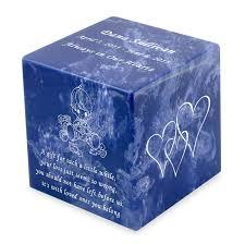 infant urn baby boy cobalt small cube infant cremation urn engravable