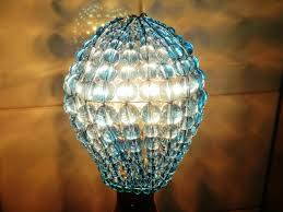 Chandelier Lamp Shades With Beads Crystal Chandelier Inspired Glass Lightbulb Gls Bulb Cover Sleeve