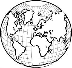 World Globe Map World Globe Coloring Page Education Simple World Map Coloring