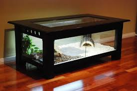 Fish Tank Living Room Table - coffee table diy lizard tank coffee table fish tank in india