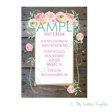Wedding Invitations Free Samples Country Flower Wedding Invitation Template Sample