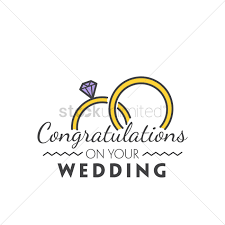 congratulations on your wedding congratulations on your wedding vector image 1791227