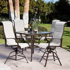 Pub Height Patio Table Bar Height Patio Table Set Outdoor Bar Set With Umbrella Outdoor