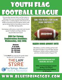 Flag Law Youth Flag Football City Of Blue Springs Mo Official Website