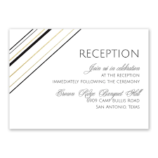 reception card sharp lines foil reception card invitations by