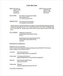 Resume For University Job by Fresher Lecturer Resume Templates 5 Free Word Pdf Format