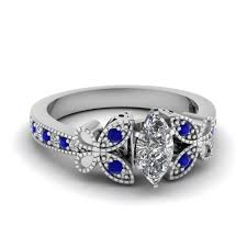 nature inspired engagement rings 1 carat marquise cut nature inspired engagement ring with