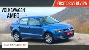 volkswagen ameo white volkswagen ameo first drive review youtube
