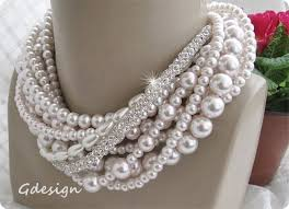glass pearl necklace images Wedding glass pearl necklace chic selections shop jpg