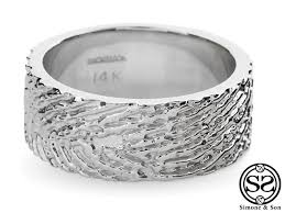 fingerprint wedding bands lovemark fingerprint wedding band orange county