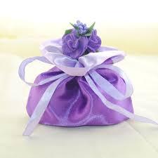 gift bags for weddings purple sateen satin ribbon gift bags wedding favor bag ewfb006 as