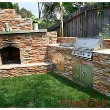 Firerock Masonry Fireplace Kits by Stone Outdoor Fireplace With Wood Boxes Fireplaces And Firepits