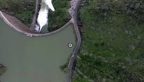 a guy flew his drone over this strange hole in a lake u2013 and the