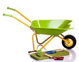 amazon com children u0027s green metal wheelbarrow tools u0026 kneepad