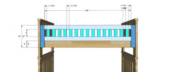 Bed Rail For Bunk Bed Free Woodworking Plans To Build An Rh Inspired Kenwood