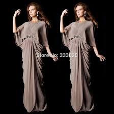 half sleeves chiffon floor length long kaftan dress arabic style