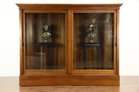 antique display cabinets with glass doors oak 1900 antique drug store display cabinet pantry cupboard sliding