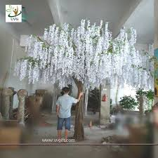Home Decor Wholesale Supplier Wis003 China Home Decor Wholesale 4 Meters Tall White Artificial