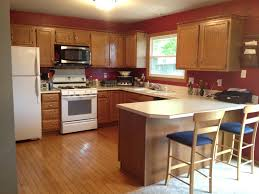 golden oak cabinets enhanced with mahogany gel stainkitchen paint