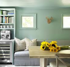 gray dining bench transitional dining room mark williams design