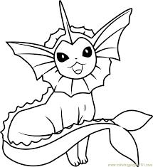 vaporeon pokemon coloring page free pokémon coloring pages