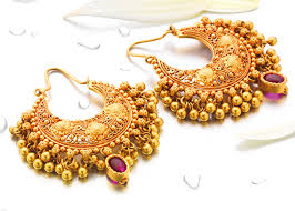 gold ear rings images buy gold earrings in pune p n gadgil and sons