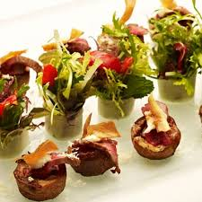 mini canape baby beef pudding canapé recipe ideas