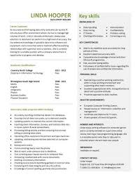 Sample Resume With One Job Experience by Entry Level Resume Templates Cv Jobs Sample Examples Free
