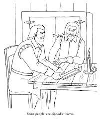 pilgrims thanksgiving coloring page separatists worship at