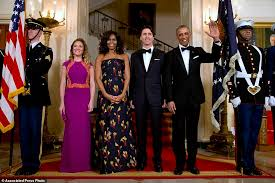 does michelle obama wear hair pieces michelle obama wears jason wu gown for canada state dinner daily