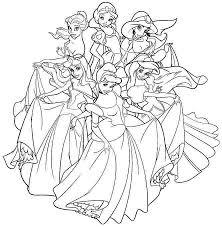 disney princes coloring pages all disney princess coloring pages printable 308 all disney
