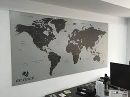 World Map Poster India by Magnetic World Map Interior Office Signage Windsor
