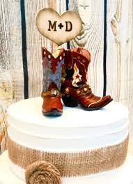 cowboy wedding cake toppers his and hers cowboy boot cake topper western cowboy cake topper