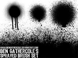 Photoshop Spray Paint - spray can brushes by bengathercole on deviantart