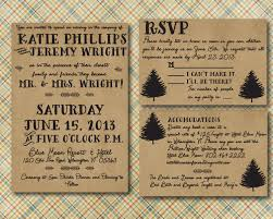 Wedding Invitations And Rsvp Cards Cheap Rustic Wedding Invitation With Rsvp Card Printed Lake Wedding