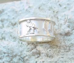 silver cartouche ring hieroglyphic ring